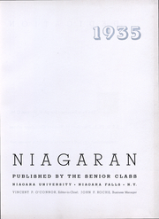 Niagara University - Niagaran Yearbook (Lewiston, NY) online yearbook collection, 1935 Edition, Page 4