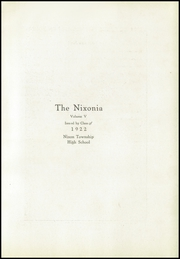 Page 7, 1922 Edition, Nixon Township High School - Nixonia Yearbook (Weldon, IL) online yearbook collection