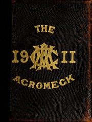 North Carolina State University - Agromeck Yearbook (Raleigh, NC) online yearbook collection, 1911 Edition, Cover
