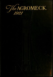 North Carolina State University - Agromeck Yearbook (Raleigh, NC) online yearbook collection, 1921 Edition, Cover