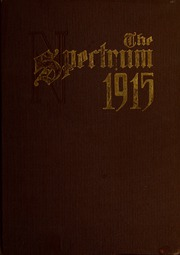 North Central College - Spectrum Yearbook (Naperville, IL) online yearbook collection, 1915 Edition, Cover