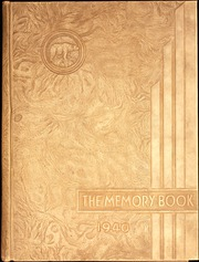 North High School - Memory Yearbook (Columbus, OH) online yearbook collection, 1940 Edition, Cover