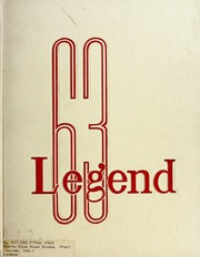 North Side High School - Legend Yearbook (Fort Wayne, IN) online yearbook collection, 1963 Edition, Cover