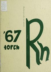 Northampton High School - Torch Yearbook (Eastville, VA) online yearbook collection, 1967 Edition, Cover