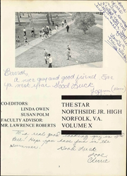 Northside Middle School - Star Yearbook (Norfolk, VA) online yearbook collection, 1970 Edition, Page 9