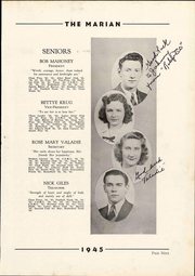 Notre Dame High School - Marian Yearbook (Chattanooga, TN) online yearbook collection, 1945 Edition, Page 15