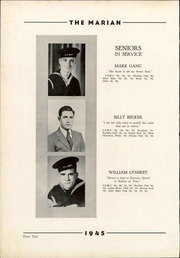 Notre Dame High School - Marian Yearbook (Chattanooga, TN) online yearbook collection, 1945 Edition, Page 16 of 82