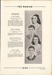 Notre Dame High School - Marian Yearbook (Chattanooga, TN) online yearbook collection, 1945 Edition, Page 17