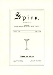 Owosso High School - Spic Yearbook (Owosso, MI) online yearbook collection, 1914 Edition, Page 7