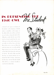 Paris High School - Owl Yearbook (Paris, TX) online yearbook collection, 1940 Edition, Page 9 of 164