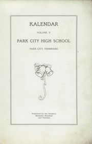 Park City High School - Kalendar Yearbook (Knoxville, TN) online yearbook collection, 1913 Edition, Page 5