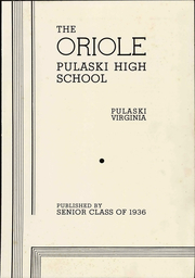 Pulaski High School - Oriole Yearbook (Pulaski, VA) online yearbook collection, 1936 Edition, Page 9