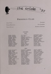 Pulaski High School - Oriole Yearbook (Pulaski, VA) online yearbook collection, 1937 Edition, Page 25