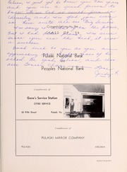 Pulaski High School - Oriole Yearbook (Pulaski, VA) online yearbook collection, 1956 Edition, Page 137 of 156