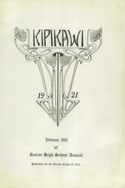 Page 7, 1921 Edition, Racine High School - Kipikawi Yearbook (Racine, WI) online yearbook collection