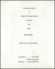 Rapid City Central High School - Pine Cone Yearbook (Rapid City, SD) online yearbook collection, 1960 Edition, Page 6