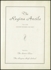 Regina High School - Regina Ancile Yearbook (Norwood, OH) online yearbook collection, 1940 Edition, Page 7 of 100