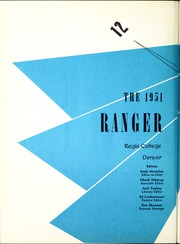 Regis College - Ranger Yearbook (Denver, CO) online yearbook collection, 1951 Edition, Page 6