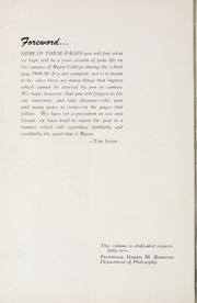Ripon College - Crimson Yearbook (Ripon, WI) online yearbook collection, 1950 Edition, Page 8 of 216