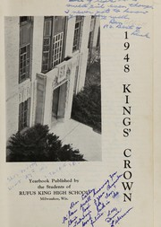 Rufus King High School - Kings Crown Yearbook (Milwaukee, WI) online yearbook collection, 1948 Edition, Page 5