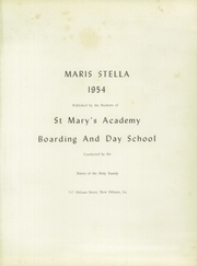 Saint Marys Academy - Maris Stella Yearbook (New Orleans, LA) online yearbook collection, 1954 Edition, Page 5