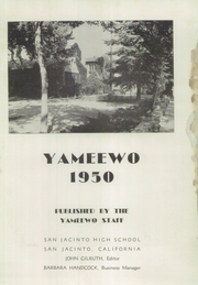 San Jacinto High School - Yameewo Yearbook (San Jacinto, CA) online yearbook collection, 1950 Edition, Page 5 of 88