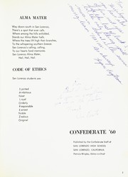 San Lorenzo High School - Confederate Yearbook (San Lorenzo, CA) online yearbook collection, 1960 Edition, Page 5