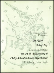 Schuyler High School - Schuy Log Yearbook (Albany, NY) online yearbook collection, 1959 Edition, Page 5