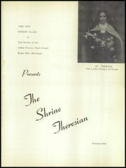Shrine of the Little Flower High School - Theresian Yearbook (Royal Oak, MI) online yearbook collection, 1950 Edition, Page 5