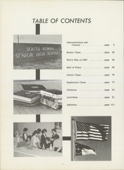 Page 8, 1967 Edition, South Rowan High School - Southerner Yearbook (China Grove, NC) online yearbook collection