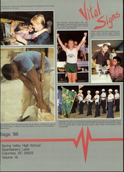 Spring Valley High School - Saga Yearbook (Columbia, SC) online yearbook collection, 1986 Edition, Page 3