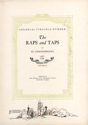 St Christophers School - Raps and Taps Yearbook (Richmond, VA) online yearbook collection, 1928 Edition, Page 5