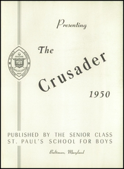 St Pauls School - Crusader Yearbook (Brooklandville, MD) online yearbook collection, 1950 Edition, Page 9