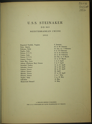Steinaker (DD 863) - Naval Cruise Book online yearbook collection, 1952 Edition, Page 5