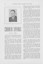 Page 14, 1952 Edition, Steinbach Bible Institute - Star Yearbook (Steinbach, Manitoba Canada) online yearbook collection