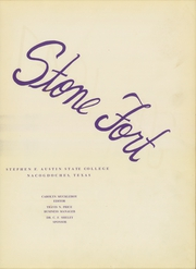 Page 7, 1947 Edition, Stephen F Austin State University - Stone Fort Yearbook (Nacogdoches, TX) online yearbook collection