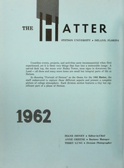 Page 6, 1962 Edition, Stetson University - Hatter Yearbook (DeLand, FL) online yearbook collection