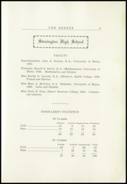 Page 7, 1929 Edition, Stonington High School - Breeze Yearbook (Stonington, ME) online yearbook collection