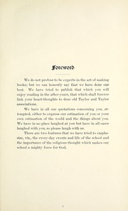 Taylor University - Ilium Gem Yearbook (Upland, IN) online yearbook collection, 1915 Edition, Page 7