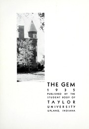 Taylor University - Ilium Gem Yearbook (Upland, IN) online yearbook collection, 1935 Edition, Page 7 of 134
