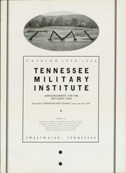 Tennessee Military Institute - Radiogram Yearbook (Sweetwater, TN) online yearbook collection, 1939 Edition, Page 5