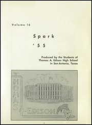Page 7, 1955 Edition, Thomas A Edison High School - Spark Yearbook (San Antonio, TX) online yearbook collection
