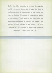 Page 6, 1939 Edition, Thornton Fractional North High School - Chronoscope Yearbook (Calumet City, IL) online yearbook collection