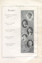 Toulon Township High School - Tolo Yearbook (Toulon, IL) online yearbook collection, 1925 Edition, Page 17 of 108