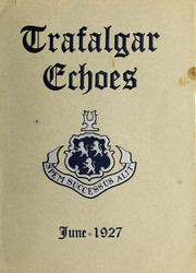 Trafalgar School - Echoes Yearbook (Montreal, Quebec Canada) online yearbook collection, 1927 Edition, Cover