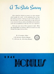 Page 7, 1941 Edition, Trine University - Modulus Yearbook (Angola, IN) online yearbook collection