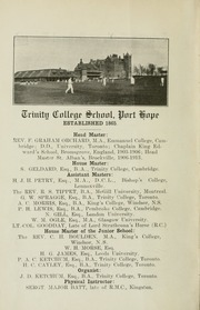 Page 8, 1927 Edition, Trinity College School - Record Yearbook (Port Hope, Ontario Canada) online yearbook collection
