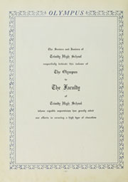 Page 8, 1930 Edition, Trinity High School - Olympus Yearbook (Washington, PA) online yearbook collection