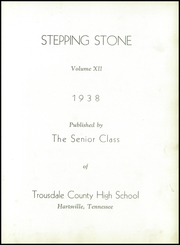 Page 7, 1938 Edition, Trousdale County High School - Stepping Stone Yearbook (Hartsville, TN) online yearbook collection