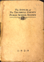 Trumbull County Public Schools - Annual Yearbook (Trumbull County, OH) online yearbook collection, 1929 Edition, Cover